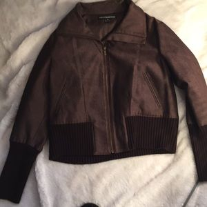 Ellen Tracy company lined cotton jacket brown XL🔥